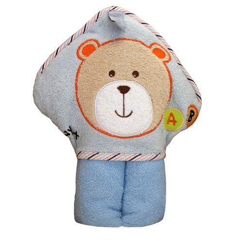 Kidiway Hooded Towel, Blue Bear - 1