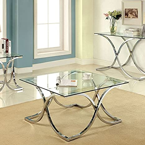 Luxa Contemporary Chrome Finish Coffee Table