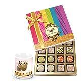 Yummy Treat Of Truffles Chocolates Box With Friendship Mug - Chocholik Belgium Chocolates