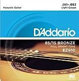 D'Addario EZ910 Satz Akustikgitarren Saiten 011' - 052' Bronze