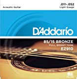 D'Addario ダダリオ アコースティックギター弦 85/15アメリカンブロンズ Light .011-.052 EZ910 【国内正規品】 ランキングお取り寄せ