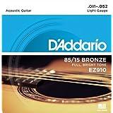 """D'Addario EZ910 Satz Akustikgitarren Saiten 011' - 052' Bronzevon """"D'Addario"""""""