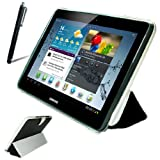 BLP0601G2 New first2savvv black leather case pouch for Samsung Galaxy Note 10.1 3G & WiFi + stylus pen