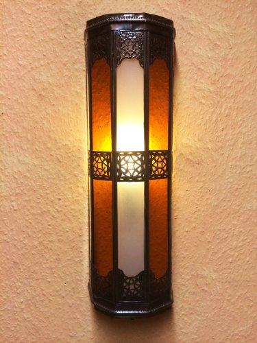 orient-Wandleuchte-aus-marrakesch-Rihana-weiss-orange