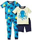 Carter's Little Boys' 4 Piece Printed Cotton Set (Toddler) - Octopus - 4T