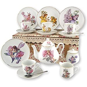 Large Flower Fairy Tea Set