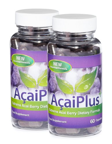 2x Acai Plus Extreme Acai Berry Fat Burner with Green Tea, L-Carnitine  &  Guarana
