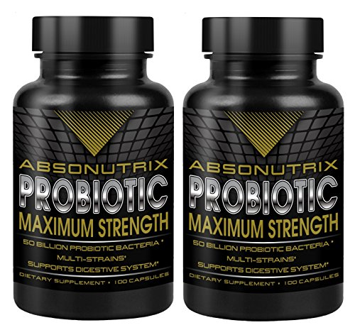 2 Absonutrix Probiotic Maximum Strength 50 Billion Per Capsule - Multi Stains Very High Quality