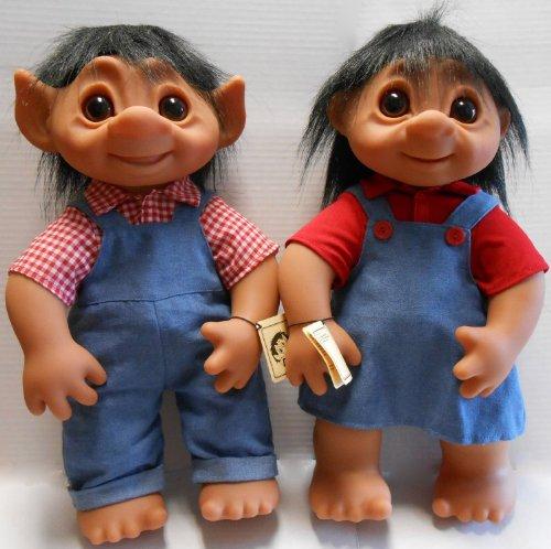 2-DAM-Trolls-Large-17-inch-Boy-and-Girl-Trolls