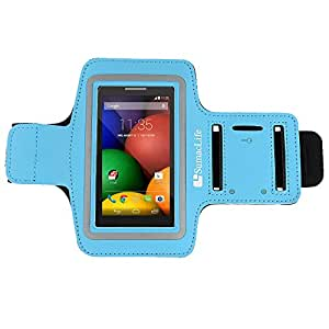 SumacLife Sports Rumming Armband for Motorola Moto E / Motorola Moto G / Moto X / DROID RAZR MAXX HD and more MOTOROLA cellphone / smartphone (Blue)