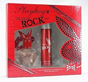 PLAYBOY, Play it ROCK Geschenk-Set mit EDT 50ml & Parfume Deo75 ml