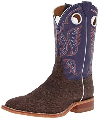 Buy Justin Mens Purple Cowhide Cowboy Boot Square Toe by Justin Boots