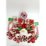 20 Piece Red And White Christmas Ornament Set
