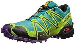 Salomon Women\'s Speedcross 3 W Trail Running Shoe, Teal Blue, 6 B US