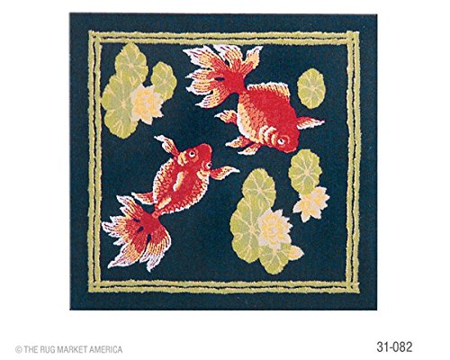 The Rug Market Koi Pond Area Rug  Size 30X30 SQUARE - 1