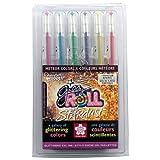 Sakura 37904 6-Piece Gelly Roll Assorted Colors Stardust Meteor Pen Set