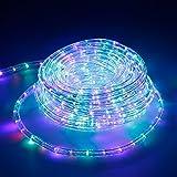 ECD Germany 10m LED Lichtschlauch Lichterkette Gartenbeleuchtung Beleuchtung 360 LEDs
