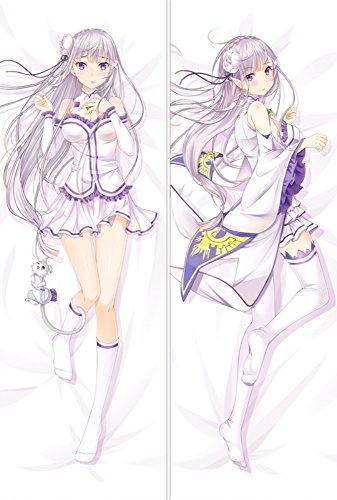 Re:ゼロから始める異世界生活 エミリア アニメ抱き枕カバー SMK-160x50 麦芽堂オリジナル作品