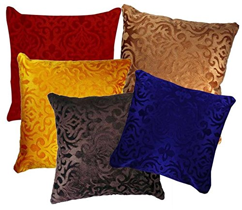 AMAZON GREAT INDIAN DIWALI SALE DISCOUNT - Belive-Me Velvet Cushion Covers Set of 5 (16x16 Inches / 40x40 cms)