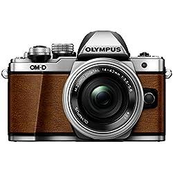 Olympus OM-D E-M10 Mark II Limited Edition Systemkamera (16 Megapixel, 5-Achsen VCM Bildstabilisator, elektronischer Sucher mit 2,36 Mio. OLED, Full-HD, WLAN, Metallgehäuse) Kit inkl. 14-42mm Objektiv (elektr. Zoom) fuchsbraun