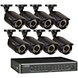 Q-See QT5682-8E3-1 8-Channel 960H Security Surveillance System with 8 High-Resolution 960H/700TVL Cameras and 1 TB Hard Drive (Black)