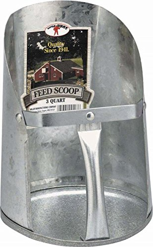 Artikelbild: Miller Manufacturing Galvanized Feed and Seed Scoop Flat Bottom Heavy Duty 3qt