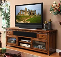 "Big Sale Legends Furniture Sierra 76"" Entertainment Media Console In Distressed Cherry Brown"