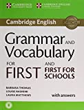 img - for Grammar and Vocabulary for First and First for Schools Book with Answers and Audio book / textbook / text book