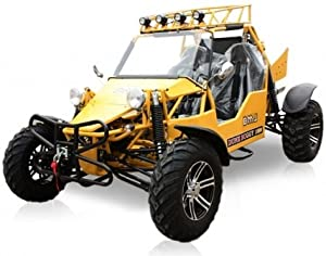 BMS Sand Sniper 1000 YELLOW Gas 4 Cylinder 2 Seat Dune Buggy Go Kart