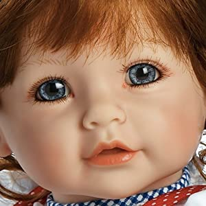 "Adora 20 inch Weighted Baby Doll on Gingham Dress and Polka Dot Bows ""Daisy Delight"" Red Hair/Blue Eyes- Ages 6+"