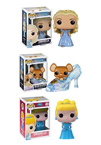 Funko Cinderella POP! Disney Cinderella, Slipper with Gus Gus, & Classic Cinderella Vinyl Collectors Set
