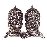 EtsiBitsi White Metal Laxmi Ganesh Religious Showpiece