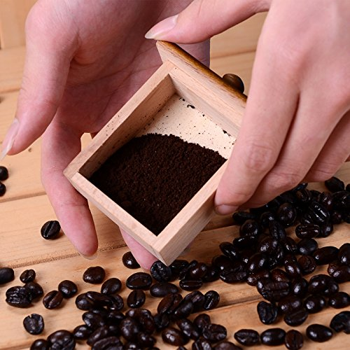 Dr.Luck Manual Coffee Bean Hand Grinder Spice Herbs Vintage Style Wooden Retro Burr Mill,Strong And Durable Hand Grinding Machine, Coffee Beans Grinding Machine, Classic Grain Mill, Manual Grinding Bean Machine(Color:Bronze,Pack of 1) 3