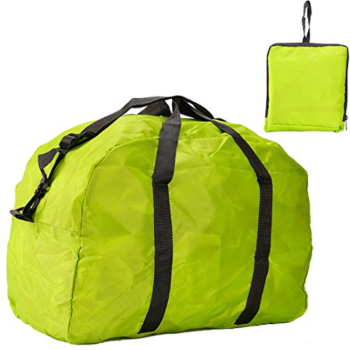 Cool walker discount duty free Cool Walker Foldable Lightweight Large Capacity Storage Luggage Bags for Travel,1424xk14-green