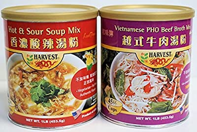 PHO Beef Broth Mix & Hot & Sour Soup Mix by Harvest 2000 International Inc.