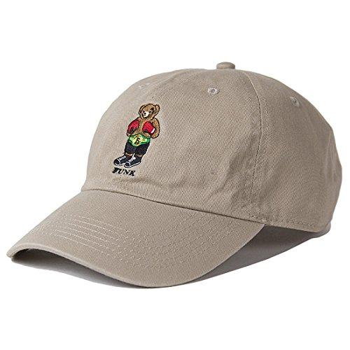 INTERBREED(インターブリード) FUNK BEAR Tyson Bear Embroidered Ball Cap ボールキャップ 帽子 マイク・タイソン カーキ