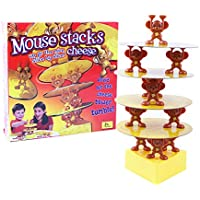 Magideal Kids Plastic Tower Balancing Toys Mouse Stacks Cheese Game Family Fun Toys