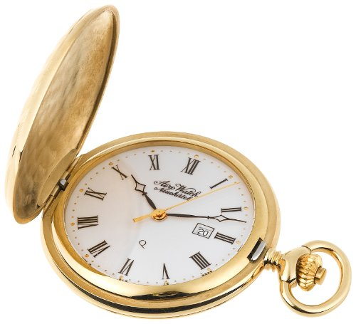 Aerowatch Men's 6228 Quartz Roman Dial Hunter Case Pocket Watch