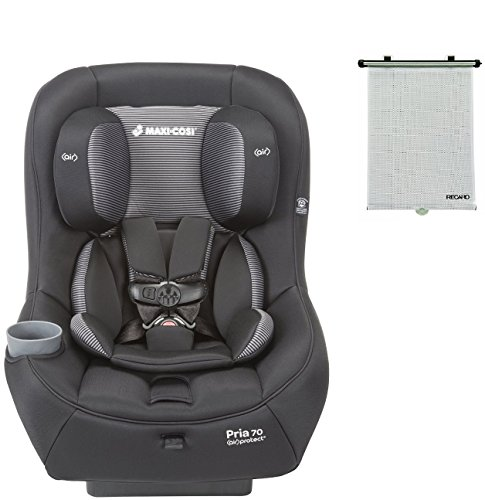 2015-Maxi-Cosi-Pria-70-Convertible-Car-Seat-Black-Gravel-with-BONUS-Retractable-Window-Sun-Shade