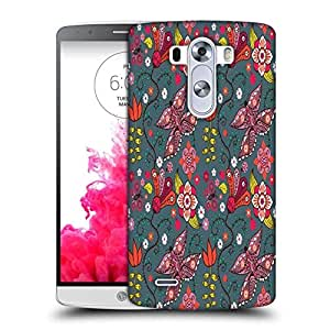 Snoogg Multicolor Butterfly Printed Protective Phone Back Case Cover For LG G3