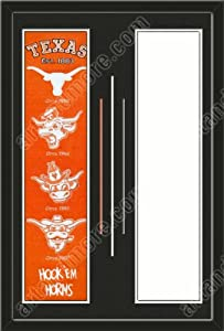 Texas Longhorns & Your Choice of other Team Heritage Banner Framed-House... by Art and More, Davenport, IA