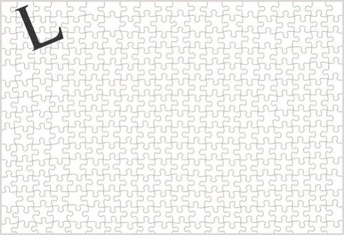 300ピース デスノート ワイミーズハウス特製 L ロゴ入り白パズル 300-181