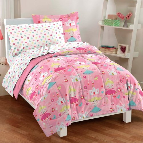 BnM girls bed in a bag set twin size pretty princess at Sears.com