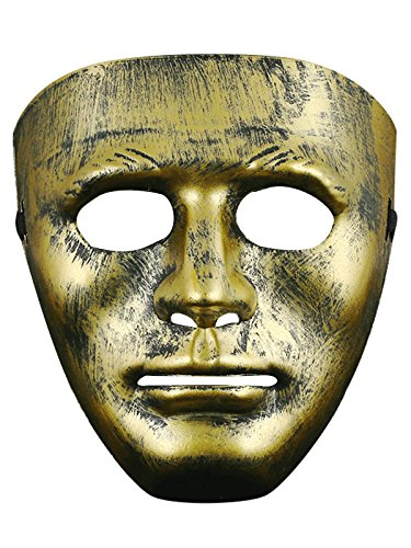 [Absoultely Perfect Creepy Scary Halloween Party Costume Decorations Mask C Gold One Size] (Homemade Catwoman Costume For Children)