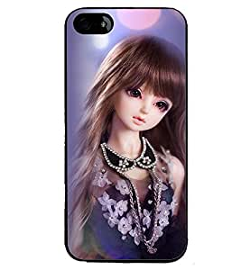 Printvisa Baby Doll Dressed Up In Blue Back Case Cover for Apple iPhone 4S