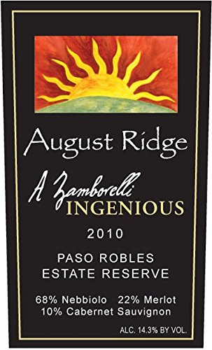 2010 August Ridge Ingenious Red 750 Ml