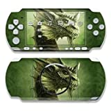 Green Dragon Design Decorative Protector Skin Decal Sticker for Sony PSP 3000