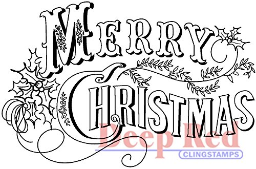 deep-red-stamps-foam-cling-3-inch-x-2-inch-vintage-merry-christmas