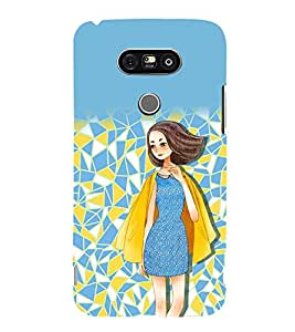 printtech Beautiful Girl Abstract Back Case Cover for LG G5