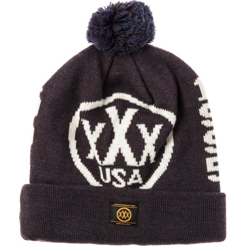 10.Deep Mens Roger That Knit Beanie Hat, Navy, One Size